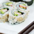 California Sushi Roll — Stock Photo