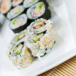 Handmade California Rolls - Sushi — Stock Photo