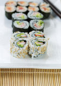 California and Spicy Tuna Rolls — Stock Photo