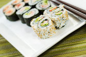 Fresh Sushi California Roll — Stock Photo