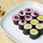 Cucumber Sushi ready to eat — Stock Photo #40535281
