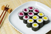 Cucumber Sushi ready to eat — Stock Photo