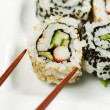 Stock Photo: Inside Out CaliforniRoll ready to Eat
