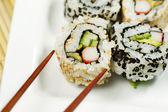 Inside Out California Roll ready to Eat — Stock Photo