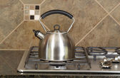 Tea Pot on Stove Top — Stock Photo