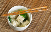 Freshly made Wonton Soup  — Stock Photo
