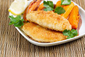Freshly made Fish and Chips — Stock Photo