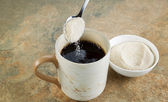Sugar and Coffee — Stock Photo