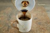 Pouring Fresh Coffee  — Stock Photo
