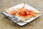 Large Crab Claw freshly Cooked  — Stock Photo
