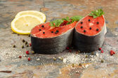 Fresh Salmon Steaks prepared for Cooking  — Foto de Stock