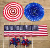 Celebration items for the Fourth of July Indepence day in United — Stock Photo