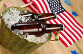 Beer for the American Independence Holiday — Stock Photo