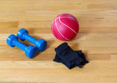Basic Gym Workout Equipment — Stock Photo
