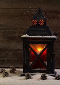 светящийся фонарь во время праздников — Стоковое фото