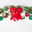 Red Christmas Bow — Stock fotografie #49865725