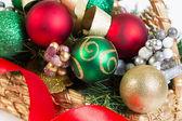 Sepeti Noel nesneler — Stok fotoğraf