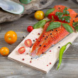 Seasonal Salmon prepared for cooking  — Stock Photo #50249525