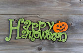Hallowen Sign on Aged wood — Stock Photo