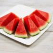 Fresh Slices of Watermelon on Plate — Stock Photo #51759575