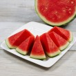 Fresh Watermelon Slices Ready to Eat  — Stock Photo #51759601