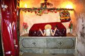 Relicario con reliquia de san pavel — Foto de Stock