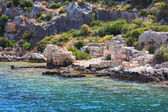 Rruins of the ancient town Kekova. — Stock Photo