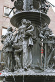 Fountain of the Virtues in Nuremberg — Stock Photo