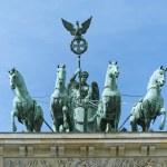 Brandenburg Gate Quadriga Berlin — Stock Photo