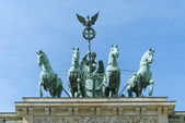 Berlino quadriga di Brandenburg gate — Foto Stock
