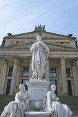 Schiller Statue in Berlin — Stock Photo