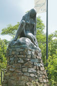 Statue von lorelei — Stockfoto