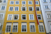 Mozart's Birthplace in Salzburg — Stock Photo