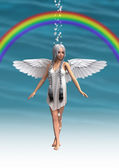 ангел под радугой — Стоковое фото