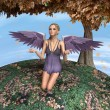 Autumn Angel — Stock Photo