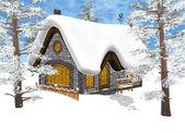 Winter Cottage — Stock Photo