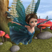 Flying Little Fairy Butterfly — Stock Photo