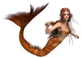 Golden Mermaid — Stock Photo