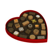Valentines Day Candy Box — Stock Photo