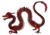 Red Eastern Dragon — Stock Photo