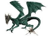 Green Dragon — Stock Photo