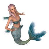 Emerald Mermaid — Stock Photo