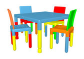 Preschool Table and Cairs — Stock Photo