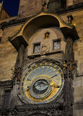 Prague astronomical clock at night — Stock Photo