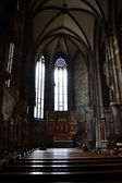 Inside Stephans cathedral Vienna, Austria — Stock fotografie