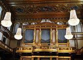 Music hall in Musikverein — Stock Photo