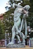 Beautiful statue in Prague — Stock Photo