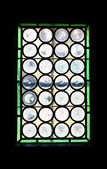 Small stained-glass window — 图库照片