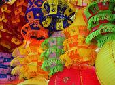 Cloth inverse tapering lantern — Stock Photo