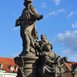 Statue on Charles bridge, Prague — Stock Photo